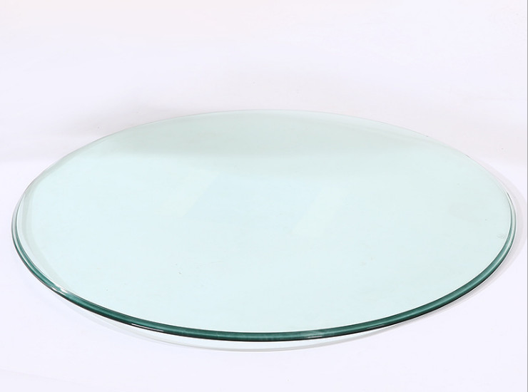 Round Desktop Glazed Glass Countertops Hotel Hotel Coffee Table Large Round Desktop