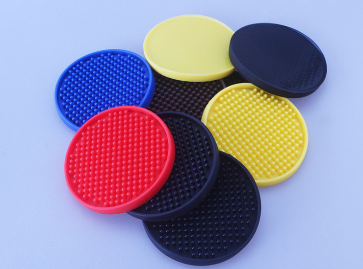 Round Pad Food Grade Rubber Silicone Non-Slip Insulation Coaster Table Mat Bar Ktv Wine Coasters