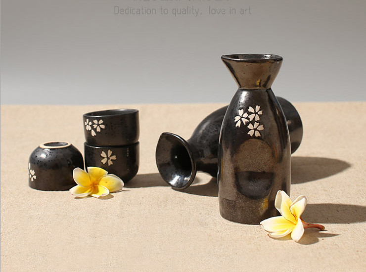 Sakura Cup Ceramic Wine Set Creative Tableware Japanese And Korean Style Sake Cup Fashion Spirits Cup Hotel Hip Flask