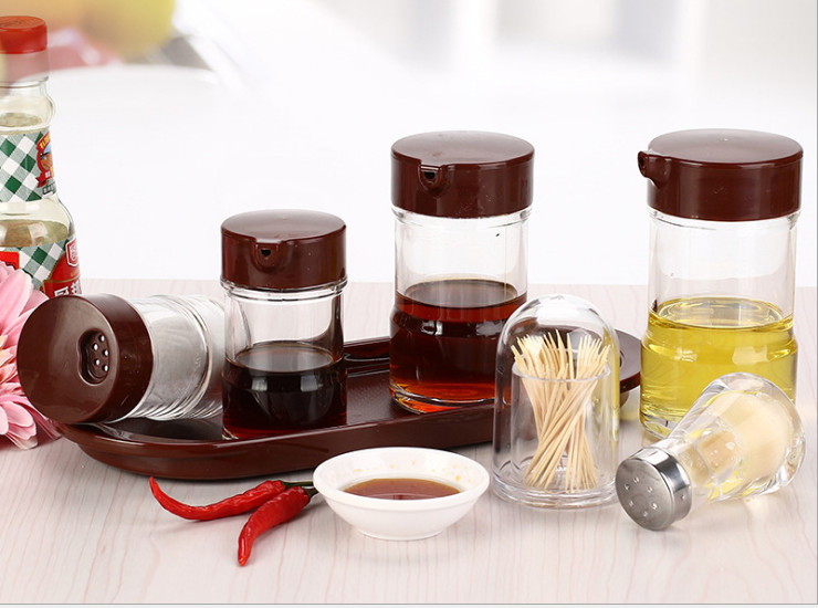Seasoning Bottle Transparent Seasoning Bottle Plastic Soy Sauce Bottle Acrylic Vinegar Bottle Kitchen Seasoning Seasoning Jar