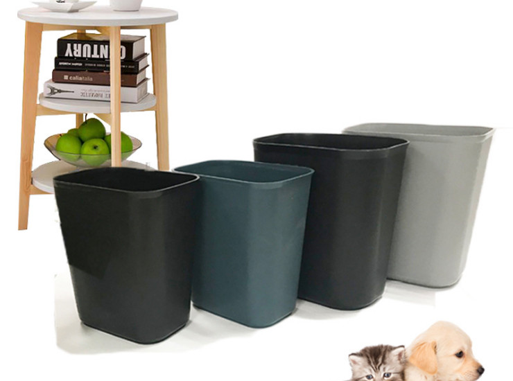 Simple And Creative Coverless Flame Retardant Plastic Trash Can Hotel Home Bathroom Office Paper Basket