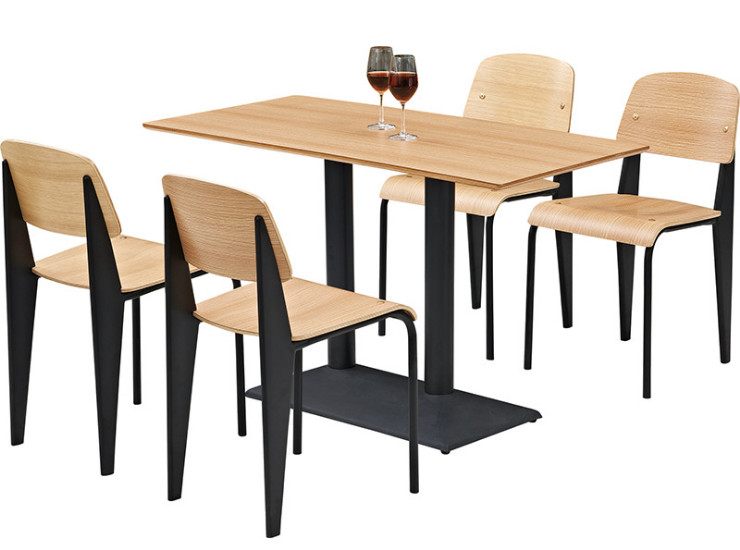 Wholesale Simple Fast Food Table And Chair Combination Milk Tea - Restaurant table price