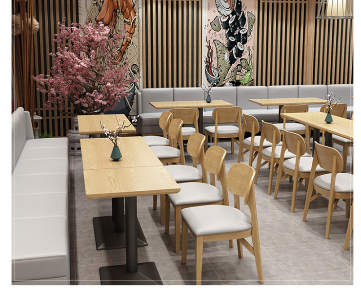 Simple Milk Tea Shop Tables Chairs Combination Restaurant Dining Bar Water Bar Clean Bar Wall Sofa (Delivery & Installation Fee To Be Quoted Separately)