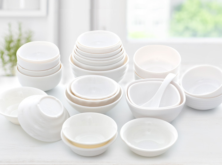 Small Rice Bowl Commercial Small Soup Bowl Japanese Korean Pcs Fast Food Plastic Melamine Small Bowl Melamine Tableware (Multiple Styles & Sizes)
