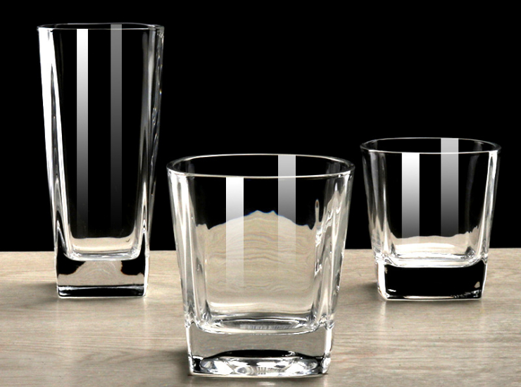 Square Creative Whiskey Glass European And American Transparent Glass Beer Glass Household Glass (Please Follow The Packing Qty To Place An Order)