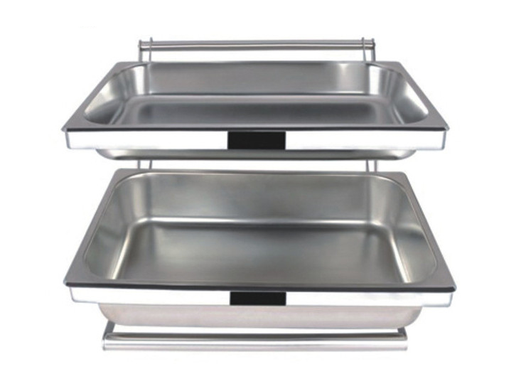Stainless Steel Buffet Combination Pallets Bread Food Display Racks Breakfast Racks Frame 1/1 Copies Of The Plate Installed
