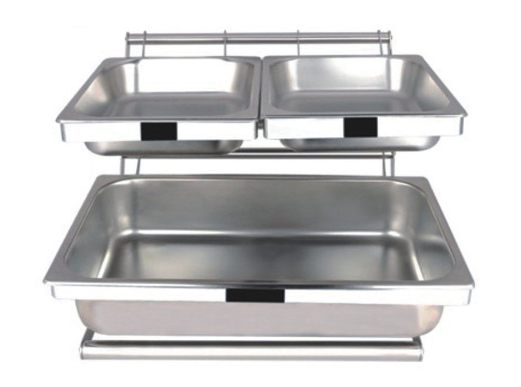 Stainless Steel Buffet Combination Racks Bread Food Display Stand Breakfast Racks Heart Frame Number Plate Installed