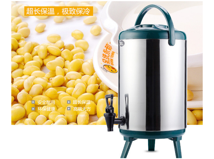 Stainless Steel Cooler Milk Tea Barrel Coffee Juice Milk Barrel Milk Tea Bucket Double Heat Bucket With Tap