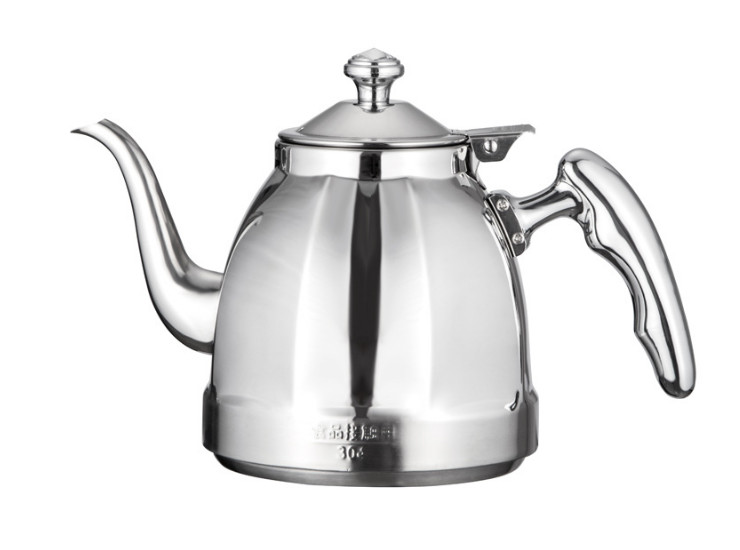 Stainless Steel Creative Octagonal Fine Mouth Kettle Home Boiled Tea White Water Teapot Induction Cooker Open Flame Universal