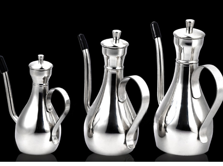 Stainless Steel Oil Jug Sauce Olive Oil Pot