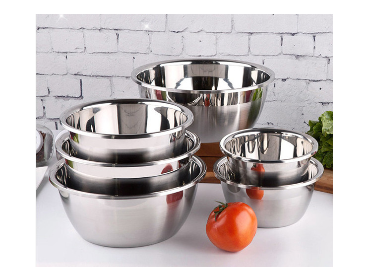 Stainless Steel Pots Thicker Deepening And Basin Pots Dish European Style Bucket Seasoning Tank To Play The Egg Pot