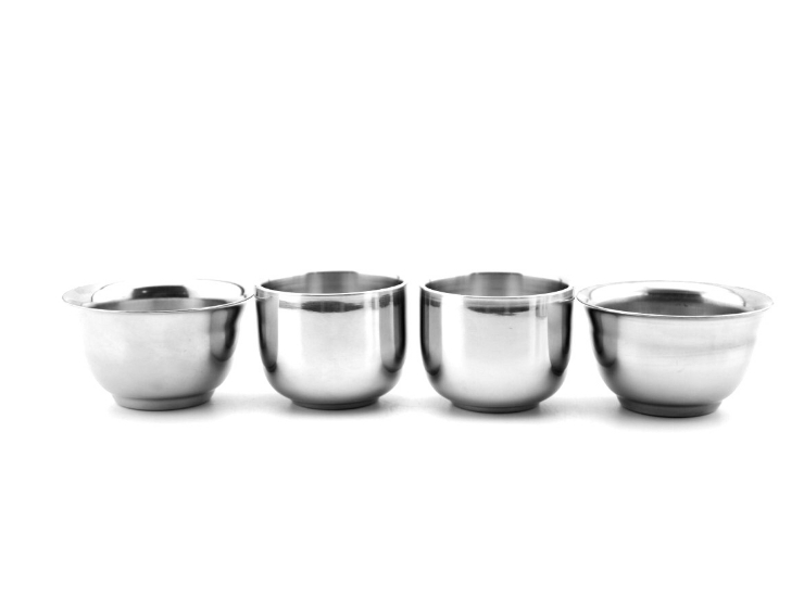 Stainless Steel Small Cup Small Cup No Magnetic Straight Mouth Anti-Port Mini Cup Double Anti-Scalding