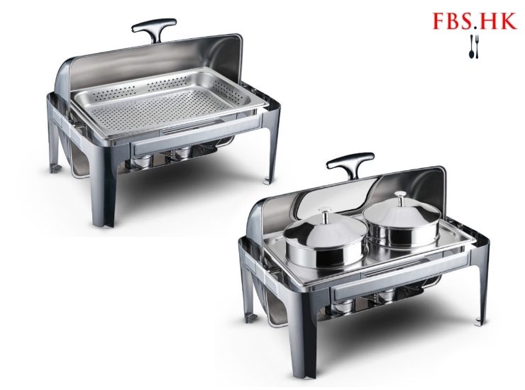 Stainless Steel Visible Full Flip Square Punching Soup Pot Buffet Furnace Insulation Heating Buffy Furnace Buffet Electric Tableware Stove Hotel Meal
