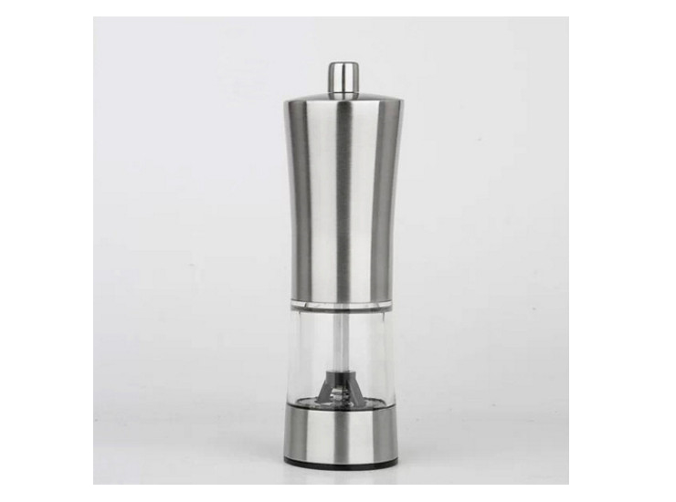 Stainless Steel Waist-Shaped Transparent Grinding Machine Pepper Mill