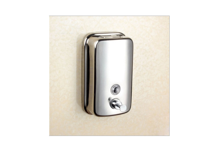 Stainless Steel Wall-Mounted Hotel Hotel Wash Soap Dispenser Box
