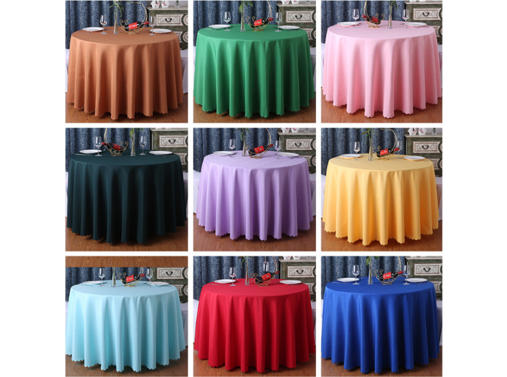 Tablecloth Restaurant Tablecloth Hotel Banquet Round Table Round White Tablecloth Fabric Wholesale