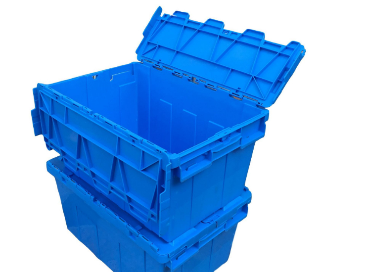 Tableware Cleaning Dishwasher Drug Distribution Turnover Box For Dishwashing Company Inclined Logistics Box 600*400*300 Plastic Box With Lid