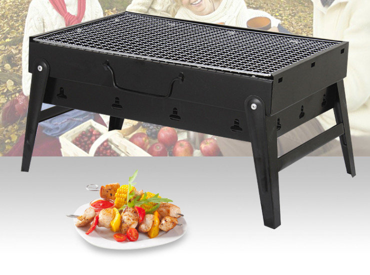 Thick Version of The Wild Barbecue Grill Outdoor Portable Package Charcoal Grill Home Folding Barbecue Grill (Large)