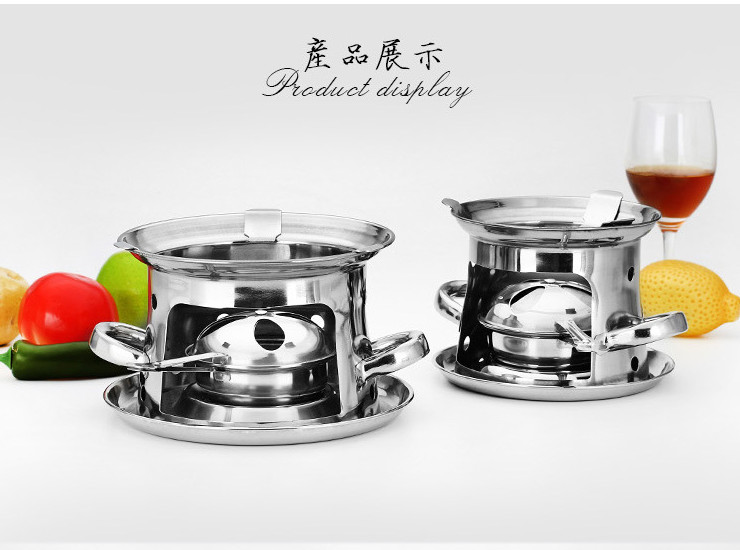 Thickened Tower Stainless Steel Alcohol Stove Self-Service Small Hot Pot Solid Liquid Alcohol Pot Pot Special Dry Boiler