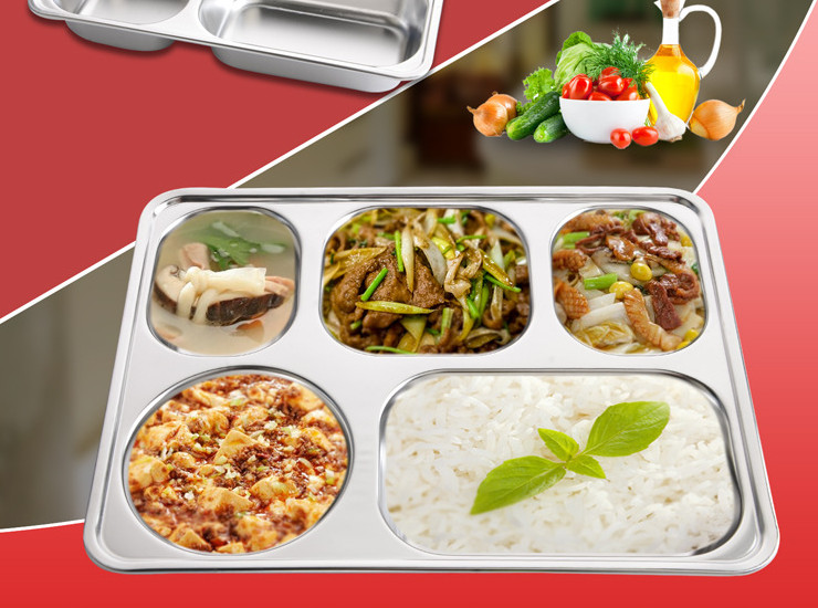 Thicker Deepened Four Boxes Of Lunch Boxes With A Boxed Box Lunch Box Stainless Steel Lunch Box Rice Plate Fast Food Dish Delivery Fast Food Box