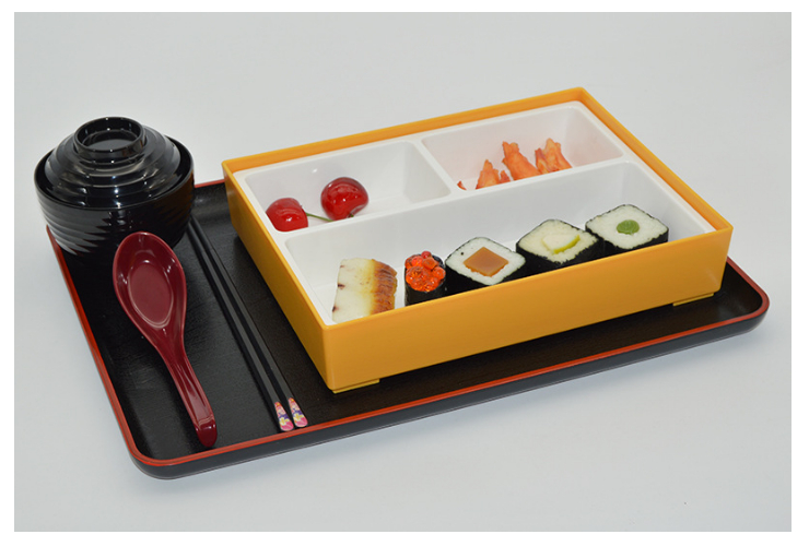 Three Grid Sushi Food Split Lunch Box Japanese Business Lunch Box Can Be High Temperature School Work Set Meal Box (Different Colors Options)