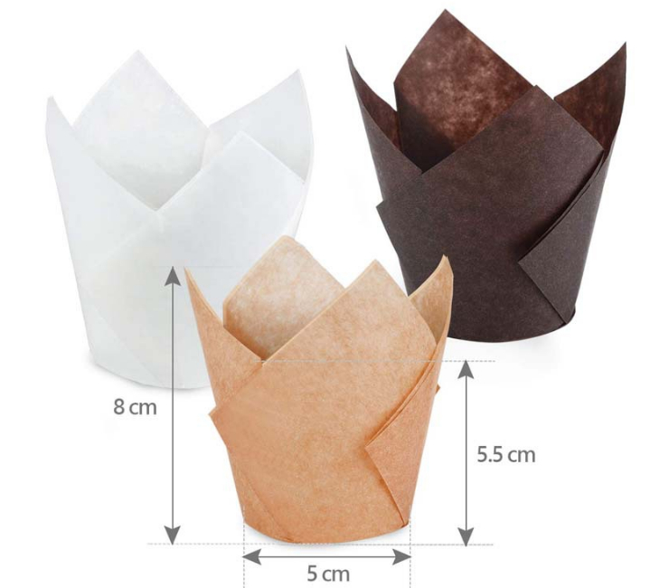 (Box/10000Pcs) Tulip Cake Paper Cup Goblet Baking Household Cake Cup Bread Oil Paper Disposable Paper Tray Baking Cup (Door Delivery Included)
