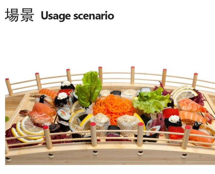 White Wood Sushi Bridge Sashimi Sushi Bowl Japanese And Korean Tableware Japanese Cuisine Sashimi Platter Curved Bottom Arch Bridge