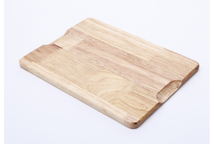 Wooden Plate Japanese Wooden Tray Simple Rectangular Plate Portable Fashion Fruit Bread Small Plate
