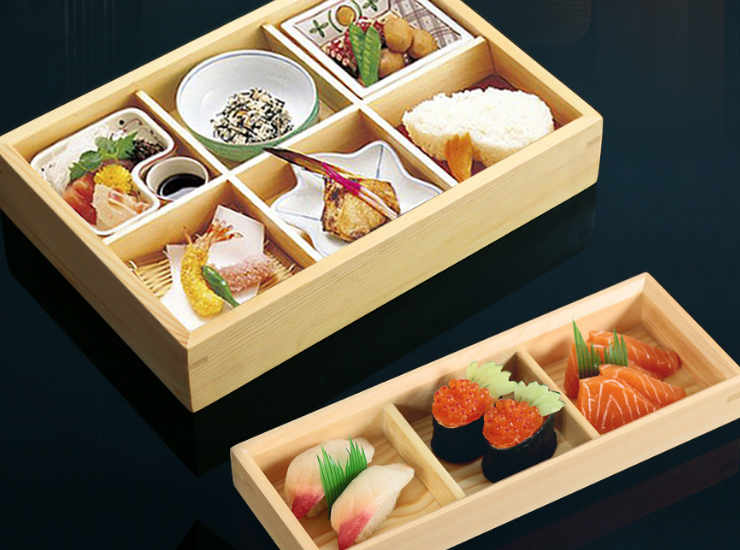 Zephyr Sashimi Plate 2,366, Wooden Box, Multi-Plate Sushi Dessert, Jiugongge Box, Daily Meal Plate (Multiple Styles & Sizes)