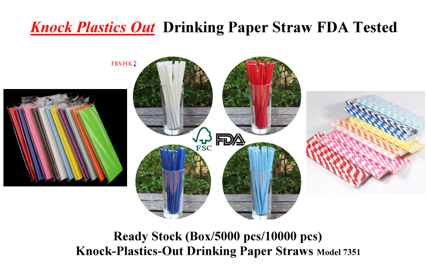 Knock Plastics Out  Drinking Paper Straw FDA Tested